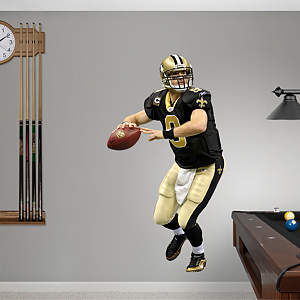 Drew Brees Quarterback Fathead Wall Decal